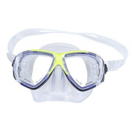 Oceanic Ion Maske–Blau/Gelb für Scuba Tauchen, Schnorcheln oder Wassersport