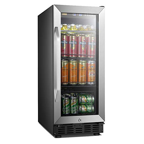 Review Of Lanbo 15 Inch Beverage Cooler 70 Cans Built In Compressor Beverage Fridge