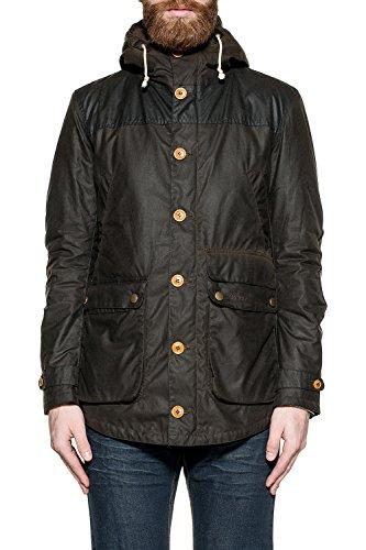 Barbour Chaqueta de abrigo de poliamida negra para hombre BACPS1332MVX0L71