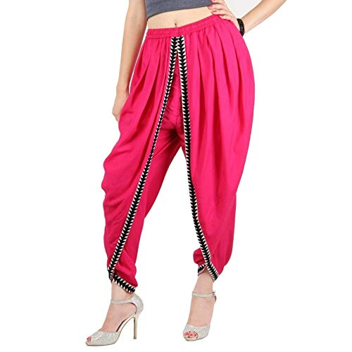 Hot Pink Color Rayon Dhoti Trouser, Dhoti Pant, Dhoti Salwar, Patiala Dhoti