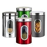 Vorratsdose Lebensmittel,Aufbewahrungsbehälter Edelstahl Vorratsbehälter,Mit Deckel und...