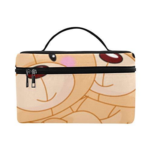 Warm Company Herz Umarmung Große Kapazität Größe Dame Cosmetic Bag Makeup Organizer Zug Kulturbeutel Lunchbox Für Mädchen Teen Frauen Reisen Mit Durchsichtigen Reißverschluss Und Einzelschicht