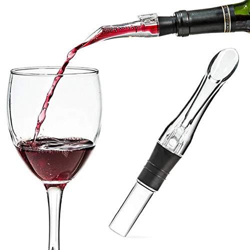 1Aireador de Vino, aireador de Vino, aireador de Vino, aireador de vinos, aireador Profesional de Vino Tinto sin Goteo para decantar fácilmente, un Gran Gadget de Bar y Regalo de