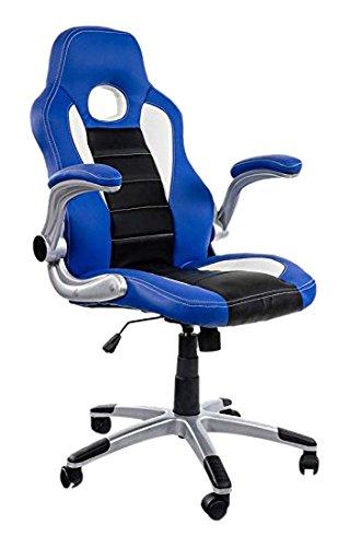 Eurosilla 3 Gaming-Sedia da Ufficio, 90 x 60 x 62 cm, Colore, plastica, ruote