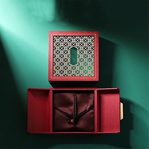 JJZXD Cajas de joyería Retro Caja de presentación Caja de Almacenamiento Soporte de exhibición de Reloj Superior Caja de Almacenamiento de Anillo de Perlas (Color : A)