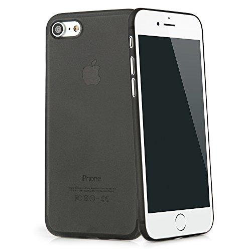 """QUADOCTA iPhone 8, iPhone 7 (4,7"""") Ultra Slim–Funda Protectora–Tenuis Negro– Case Bumper Fácil de protección Transparente Smart Cover Compatible con Apple iPhone8 con Protección De La Cámara"""
