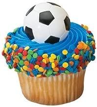 Soccer Ball Cupcake Rings (24-Pack)