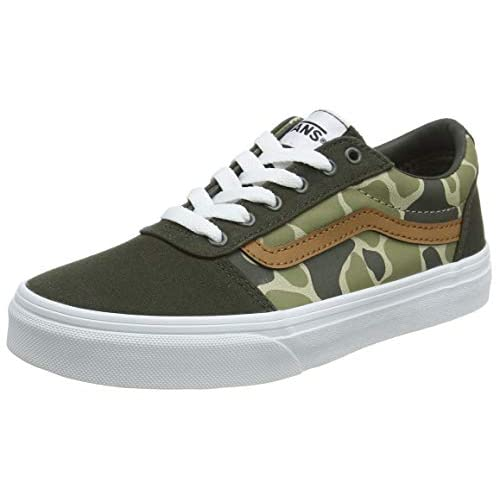 Vans Ward Canvas - Sneaker Unisex Bambini, Multicolore ((Frog Camo) forest night/white WLZ), 34 EU
