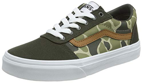 Vans Unisex-Kinder Ward Canvas Sneaker, Mehrfarbig ((Frog Camo) forest night/white WLZ), 36 EU