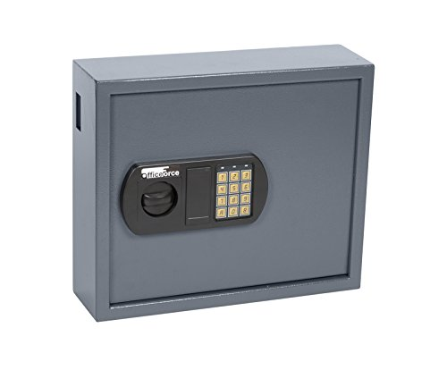 OfficeForce® Digitaler Schlüsselkasten, Schlüsselschrank, Sicherheit, bis 50 Schlüssel, Doppellbolzen Codeschloss (20101)