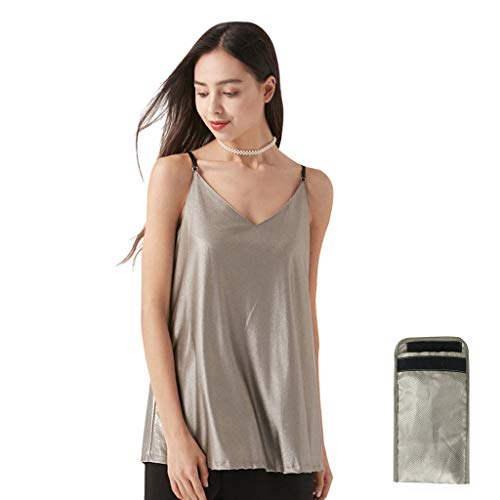 EMF 5G Anti-Radiation Maternity Clothes Top Skirts Pregnant Tank Shielding Baby Mom Protection Signal Blocker Dresses Apron Design for iPhone 12 Pro Sleeve (Tank Top+Faraday Bag)