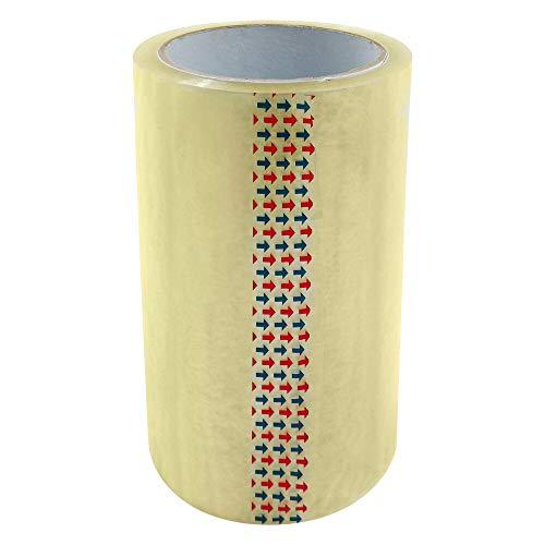 1-PACK Adressenschutzfilm Etikettenschutz Klebeband PP-852, 150 mm x 66 m, transparent, 4 Stück