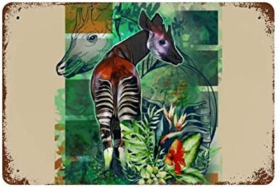 ZJLVMF Ethan s Okapi Iron Plate Hanging Picture Decoration Metal Poster Warning Group Slogan product image