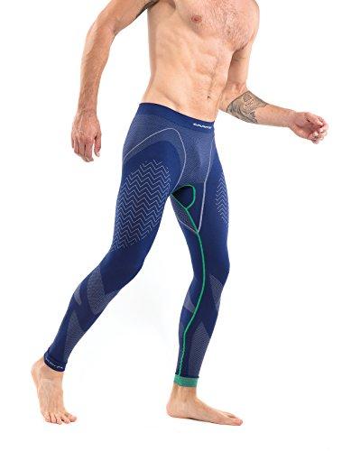 EMMITOU Silver Pantalon Hommes 01, Marine/Vert, XXL
