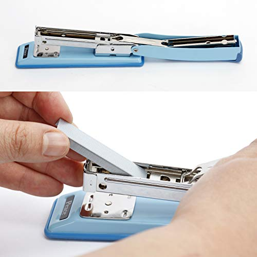 Peace Stapler with 2000 Staples, 2 Pack, Desk Metal Stapler, 25 Sheet Capacity, Standard Commercial Stapler, 100% Made in Korea, Blue Stapler Photo #2