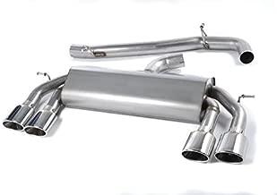 Milltek SSXVW307 2014 Golf MK7 R 2.0 TSI 300PS Cat-back Sistema de carrera sin válvula, sin válvula, ovalado, sin resonancia [Raza]