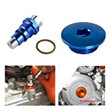 Repuestos Powersports Motor de encendido por el tapón de la cubierta Cadena de distribución Tensor de Husqvarna FC FE 250 350 2014-2019 for Husaberg FE 390 570 for KTM SXF (Color : Blue)