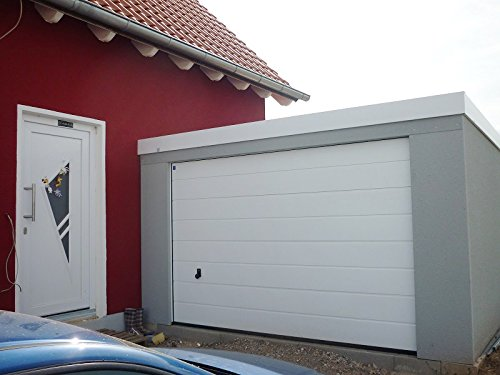 *Fertiggarage Hochraumgarage, ca. 4 x 9 m,mit Hörmann Sectionaltor Caravangarage*