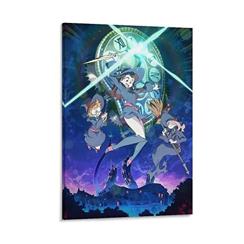 """BVNGF - Poster da parete con scritta """"Little Witch Academia Anime"""" (60 x 90 cm)"""