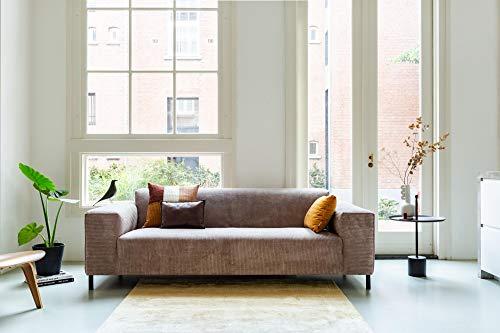By SIDDE Sofa 3-zits Remus 5 jaar vlekgarantie en retourrecht - Scandinavische stijl Ribbels 12 chocoladebruin