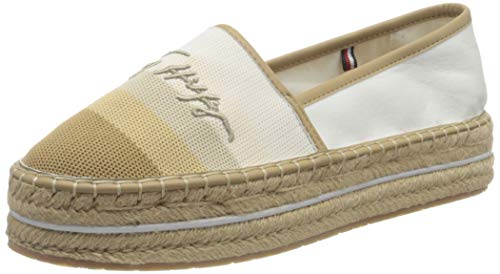 Tommy Hilfiger, Tommy Gradient Espadrille Mujer, Crudo, 38.5 EU
