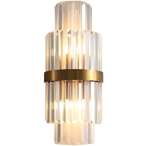 Aplique de pared Lámpara de pared Moderno Minimalista Minimalista Lámpara de pared Decorativa Sala de estar Interior Lámpara de pared Creativa American Crystal Strip Dormitorio Lámpara de noche Decora