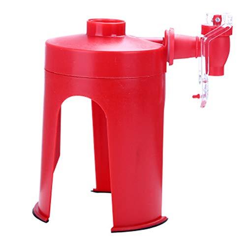 Dispensador de agua invertido para botella de cocaína, dispensador de coca de plástico rojo, dispensador de cocaína, dispensador de bebidas en casa, fiesta, dispensador de soda, gadget