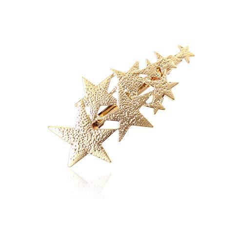 YAZILIND Sencilla Forma de Pentagrama Primavera Grandes Pinzas para el Cabello Horquillas Accesorios Exquisitos Pinzas para el Cabello para Las Mujeres de Oro