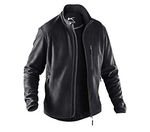 KÜBLER WEATHER Fleecejacke schwarz, Größe L, Unisex-Fleecejacke aus Mischgewebe, funktionelle Fleecejacke von KÜBLER Workwear