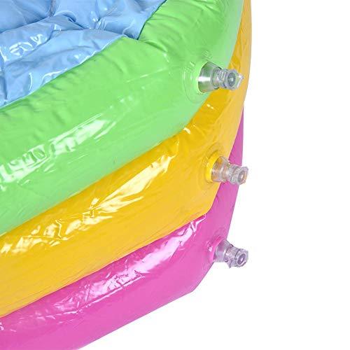 Zerodis Spielzeug Runde Pool DREI Schicht Regenbogen Aufblasbare Spielzeug Tragbare Outdoor Indoor Anti Flip Kinder Becken Badewanne Schwimmbad Spielzeug Geschenk für Kinder(90cm)