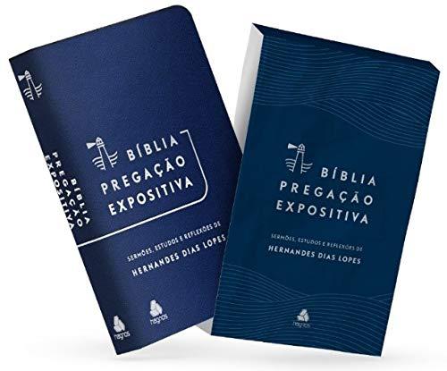 Bíblia Pregação Expositiva | RA | PU luxo azul claro
