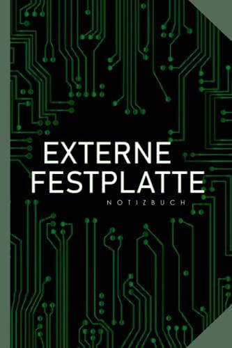 Notizbuch für Informatiker - Externe Festplatte: 120 Seiten Notizen für EDV und Computer-Experten in der IT-Abteilung | lustiges Geschenk
