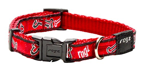 Rogz Fancy Dress Kleine 3/20,3 cm Jellybean zijdelingse fashion hondenhalsband, rood roogz botten design