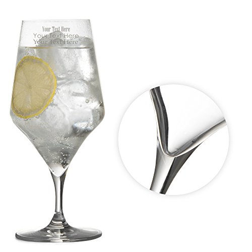Tuff-Luv Personalised Bacci Crystal Water Glass / Barware - 56cl