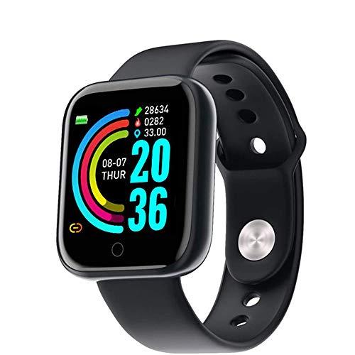Reloj Inteligente, rastreador de Ejercicios con Monitor de frecuencia cardíaca, podómetro Impermeable IP67 Pulsera de Reloj Inteligente con Monitor de sueño, Contador de Pasos para Android iOS