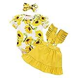 Babykleidung Set Baby Mädchen Kleidung Outfit Body Strampler + Rock mit Hosenträger und Rüschen Neugeborene Babyset