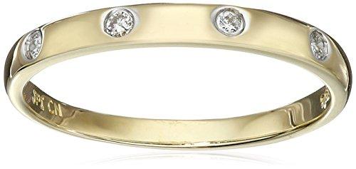 10k Yellow Gold Diamond Accent Band, Size 6