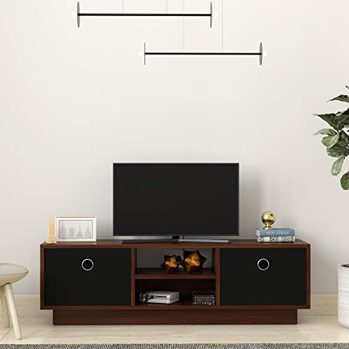 Amazon Brand - Solimo Canary Engineered Wood TV/Entertainment Unit (Walnut & Black)