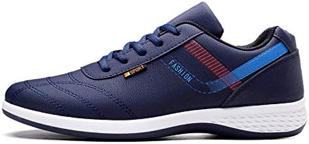 LOVDRAM Chaussures Hommes Chaussures De Sport Décontractées pour Hommes De Printemps pour Hommes - Chaussures Imperméables Antidérapantes - Chaussures Mode Coréenne - Chaussures Blanches - Chaussures