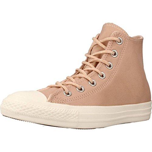 Converse Chucks CTAS Hi Leder Dusk pink Altrosa gefütterte Damen Winter Schuhe (37.5)
