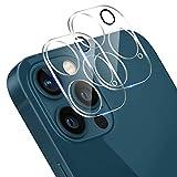 【2枚セット】iPhone 12 Pro用 カメラフィルム フラッシュ穴に黒ゴム 露出過度を防ぐ 超強夜景撮影 高光沢 全面保護 日本旭硝子製硬度9H キズ防止 高透明度 耐衝撃 防塵 飛散防止 貼り付け簡単 iPhone 12 Pro用 レンズフィルム