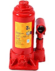 油圧ジャッキボトル3T容量カーリフト油圧ジャッキ自動車リフター車両ボトルジャッキ修理ツール、ほとんどの車のタイヤを持ち上げて交換するためのバンボートトラックキャラバン