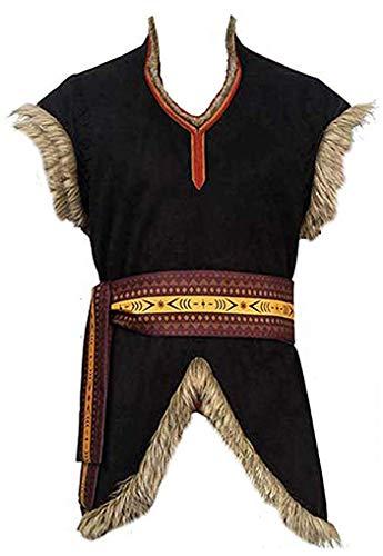 Qian Qian Herren Kristoff Cosplay Kostüm Halloween Outfits (XS, Weste)