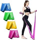 Niluoya Bande de Fitness Elastique, Bandes Élastiques avec 3 Niveaux de Résistance Élastique, 1,5 M / 2 M Poids Elasti, pour Musculation à Domicile/Rééducation Sportive/Pilates/Yoga/Fesses