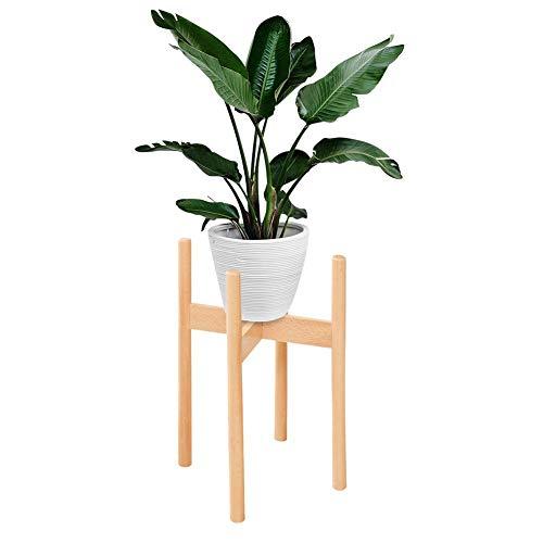 Besteffie Holz-Pflanzenständer – Eck-Blumenständer für den Innenbereich, Pflanzgefäß-Halter für Zuhause, Garten, Büro (Topf nicht im Lieferumfang enthalten)