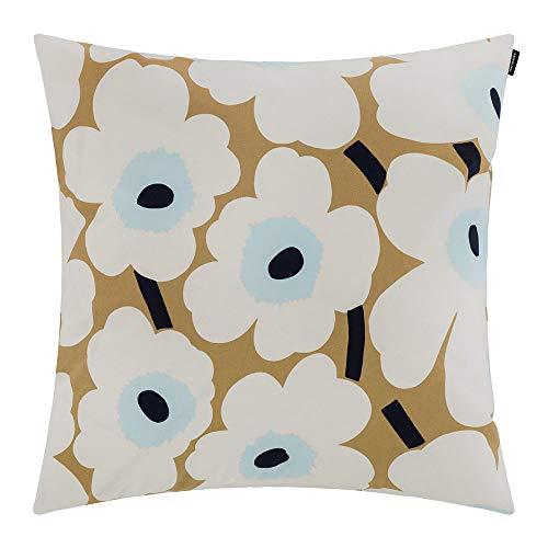 Marimekko Pieni Unikko Pillow Cover - 50x50cm - Beige/White/Blue -  #064163 815