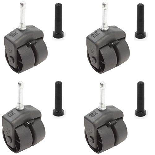 Leggett & Platt Replacement Wheels / Casters with Socket Sleeves - Set of 4