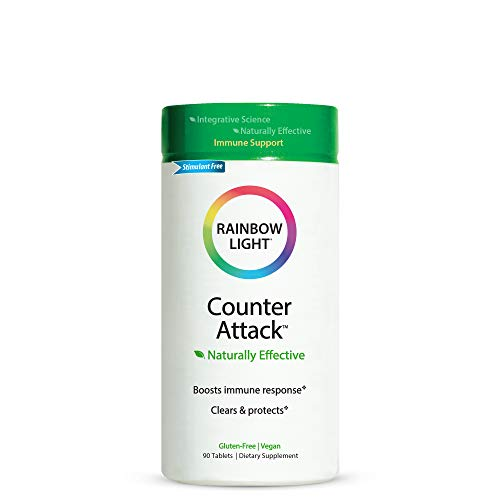 Rainbow Light Counter Attack, Supports Immune System Health, Vegan - 90 Tablets