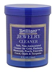 Cleans almost all types of jewelery Includes a basket for easily removing pieces left in solution Includes a small bristle brush for extra cleaning This solution is non-toxic As all types of jewelry cleaners, this should not be used on pearls