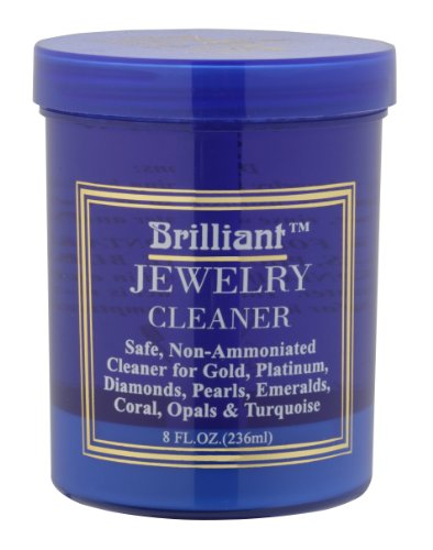 Brilliant 8 Oz Jewelry Cleaner with Cleaning Basket and Brush